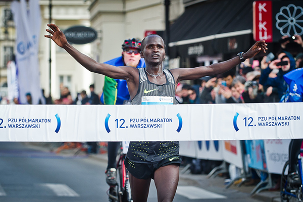 John Lotiang wins the Warsaw Half Marathon (Organisers / Sportografia.pl)