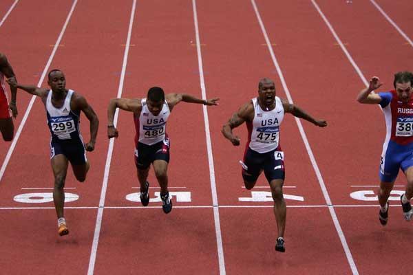 Leonard Scott of USA wins the men's 60m final (Getty Images)