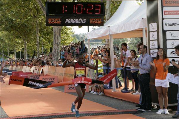Course record for Alice Mogire in Oporto (RunPorto organisers)