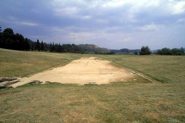 The ancient Olympic stadium in Olympia (Getty Images)