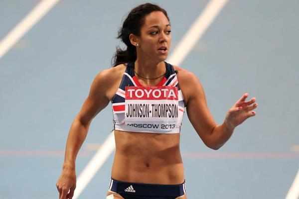 Katarina Johnson-Thompson in the heptathlon 200m at the 2013 IAAF World Championships in Moscow (Getty Images)