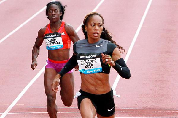 Sanya Richards-Ross wins at the 2012 adidas Grand Prix in New York (Victah
