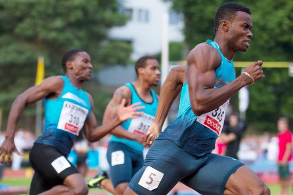 Jamaica's Jason Young on his way to winning the 200m in Lucerne (Organisers)