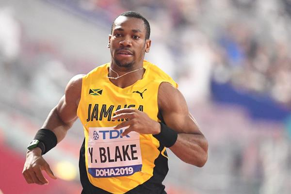 Yohan Blake at the IAAF World Athletics Championships Doha 2019 (AFP / Getty Images)