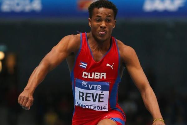 Ernesto Reve in the triple jump at the 2014 IAAF World Indoor Championships in Sopot (Getty Images)