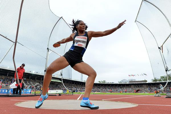 Denia Caballero spins to victory at the Diamond League meeting in Stockholm (Hasse Sjogren)