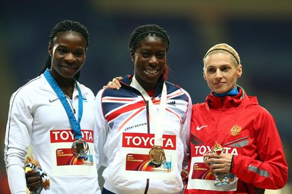 Womens 400m Medal Ceremony at the IAAF World Athletics Championships Moscow 2013 (Getty Images)