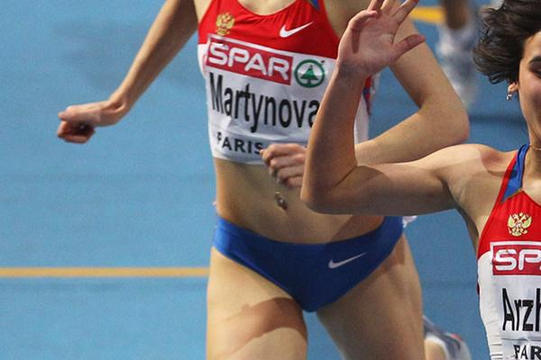 Yekaterina Martynova at the 2011 European Indoor Championships (Getty Images)
