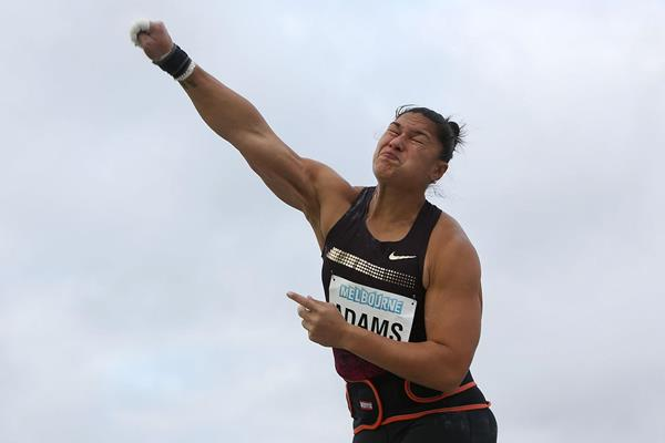 Valerie Adams at the IAAF World Challenge meeting in Melbourne (Getty Images)