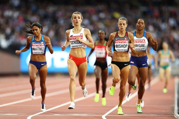 Angelika Cichocka in the 800m at the IAAF World Championships London 2017 (Getty Images)