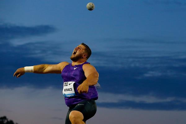 Joe Kovacs at the Diamond League meeting in Eugene (Getty Images)