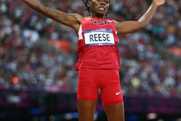 Brittney Reese of the United won the gold medal  in the Women's Long Jump Final on Day 12 of the London 2012 Olympic Games at Olympic Stadium on August 8, 2012 (Getty Images)