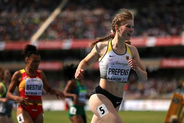 Talea Prepens wins the 200m at the IAAF World U18 Championships Nairobi 2017 (Getty Images)