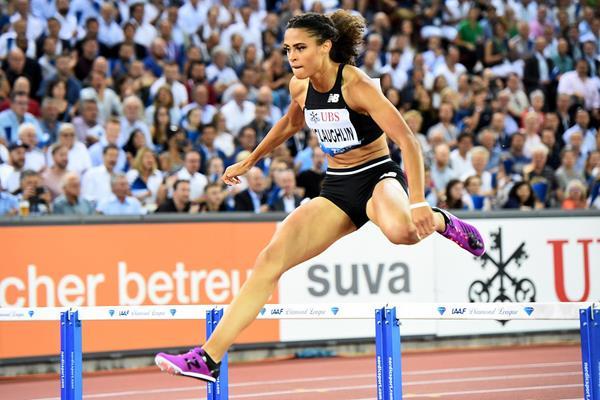 Sydney McLaughlin wins the 400m hurdles at the IAAF Diamond League final in Zurich (Jiro Mochizuki)