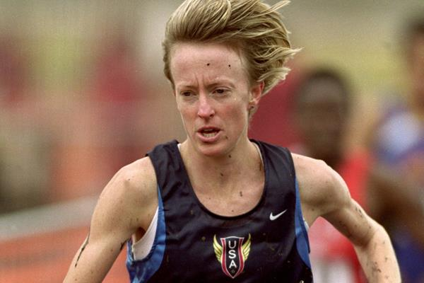 Deena Kastor at the 2001 IAAF World Cross Country Championships (Getty Images)