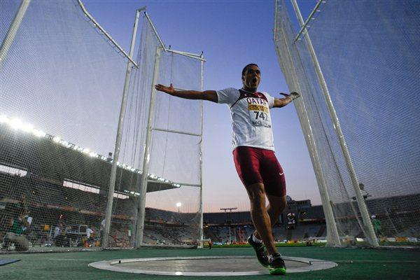Qatar's Ashraf Amgad Elseify in action in the hammer (Getty Images)