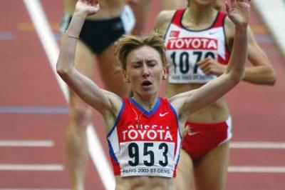 Tatyana Tomashova of Russia wins the 1500m final (Getty Images)