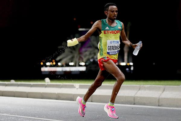 Mosinet Geremew in the marathon at the IAAF World Athletics Championships Doha 2019 (Getty Images)