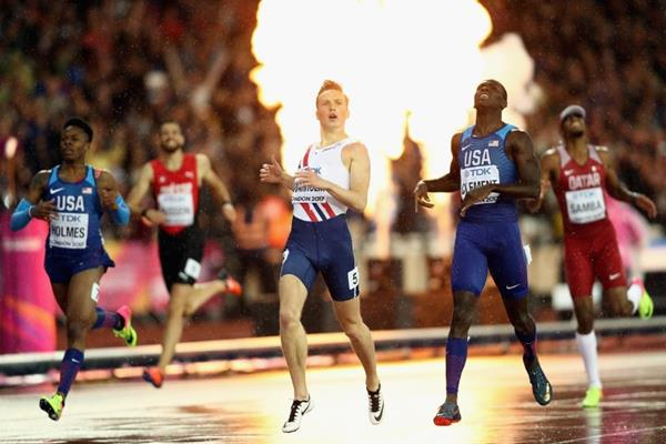 Karsten Warholm winning the 400m hurdles at the IAAF World Championships London 2017 (Getty Images)
