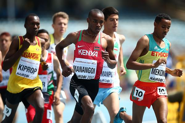 George Manangoi in the 1500m at the IAAF World U18 Championships Nairobi 2017 (Getty Images)