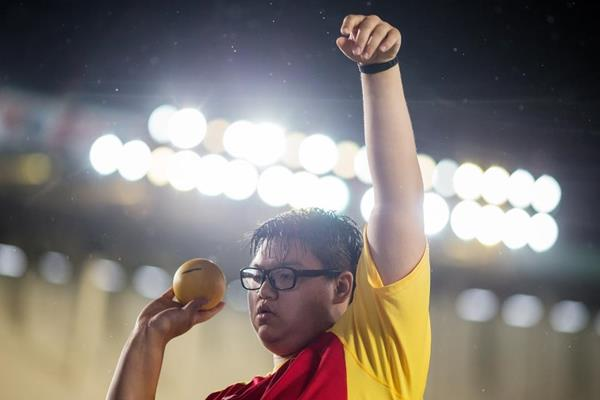 Yu Tianxiao in the shot put at the IAAF World U18 Championships Nairobi 2017 (Getty Images)