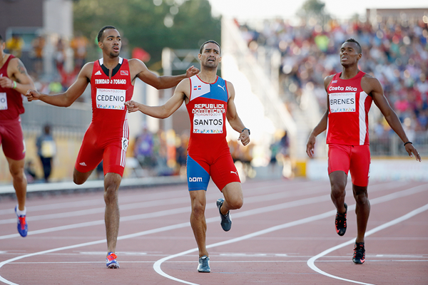 Luguelin Santos wins the 400m at the Pan American Games (Getty Images)