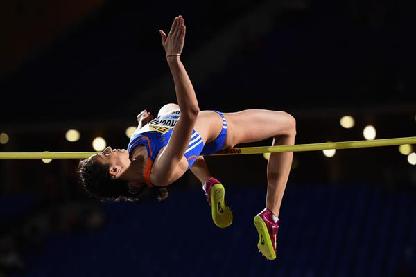 Maria Kuchina, winner of the high jump at the IAAF Continental Cup, Marrakech 2014 (Getty Images)