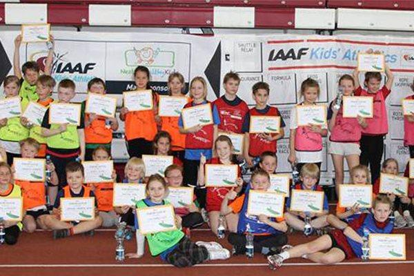 Participants of IAAF/Nestlé Kids' Athletics competition held in Tallinn (IAAF)