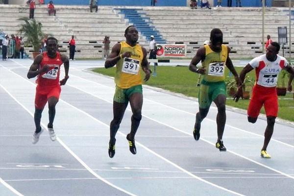 Nickel Ashmeade of Jamaica (391) brings home the 200m gold in Havana (Javier Clavelo Robinson)