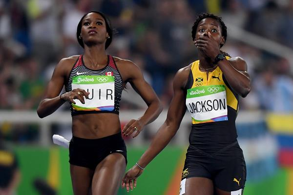 Shericka Jackson in the 400m at the Rio 2016 Olympic Games (Getty Images)