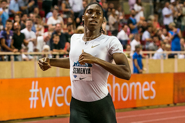 Caster Semenya wins the 800m at the IAAF Diamond League meeting in Monaco (Philippe Fitte)