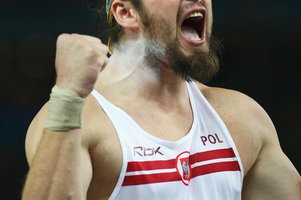 Poland's Olympic Champion Tomasz Majewski of Poland couldn't add a World Championship gold medal to his collection, but still finishes with a silver medal (Getty Images)