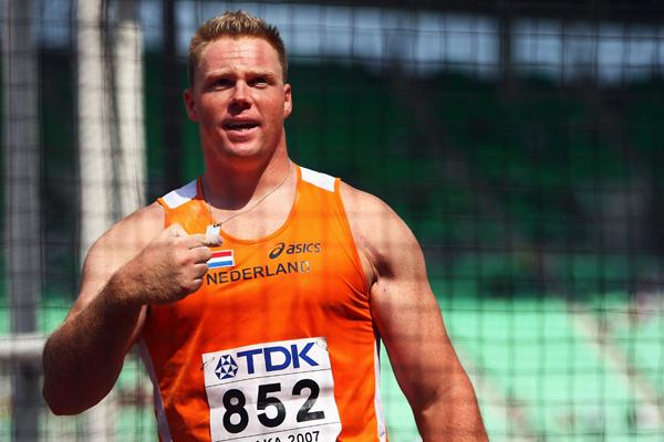Rutger Smith of Netherlands competes in the Discus Throw qualifications (Bongarts/Getty Images)