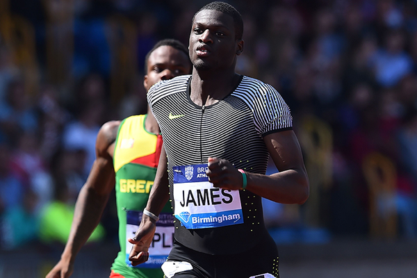 Kirani James wins the 400m at the IAAF Diamond League meeting in Birmingham (AFP / Getty Images)