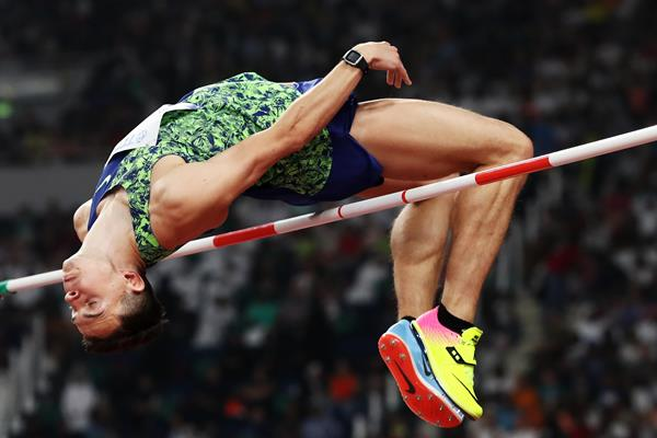 Ilya Ivanyuk in the high jump at the IAAF World Athletics Championships Doha 2019 (Getty Images)