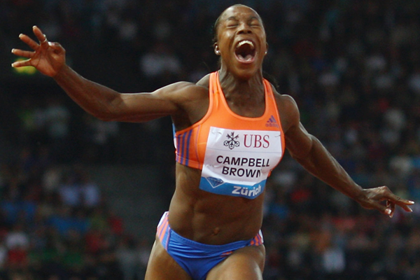 Veronica Campbell-Brown wins the 100m at the Diamond League meeting in Zurich (Getty Images)