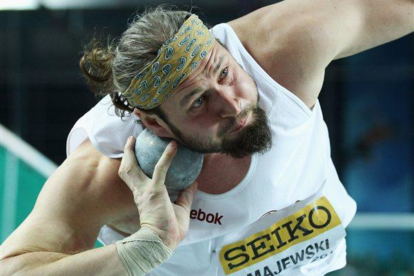 Tomasz Majewski of Poland competes in the Men's Shot Put Final during day one - WIC Istanbul (Getty Images)