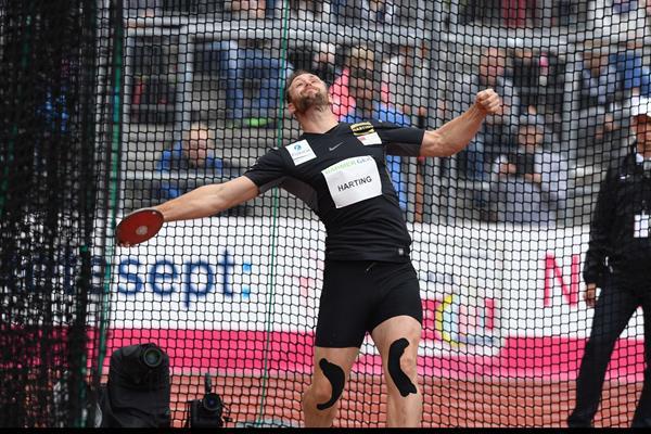 Robert Harting in action at the German Championships in Kassel (Gladys Chai von der Laage)