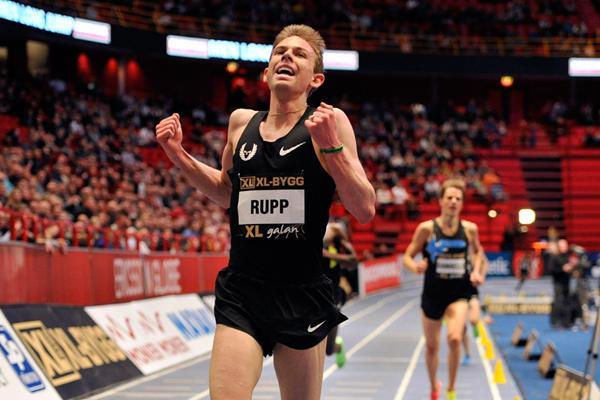Galen Rupp breaks the American indoor 3000m record in Stockholm (DECA Text&Bild)