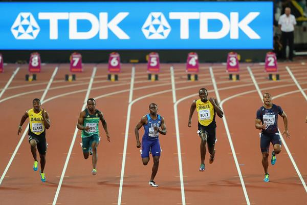 Men's 100m final at the IAAF World Championships London 2017 (Getty Images)