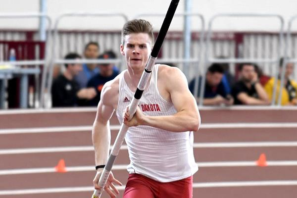 Chris Nilsen at the 2017 NCAA Indoor Championships (Kirby Lee)