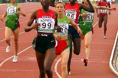 Nancy Lagat wins women's 1500m - Brazzaville (Ouma)