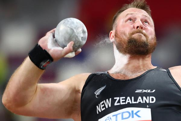 Tom Walsh unleashes a 22.90m throw in the shot put at the IAAF World Athletics Championships Doha 2019 (Getty Images)