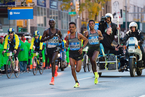 Ghirmay Ghebreslassie in action at the New York City Marathon (AFP / Getty Images)