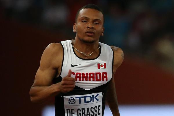 Andre De Grasse in the 100m at the IAAF World Championships, Beijing 2015 (Getty Images)
