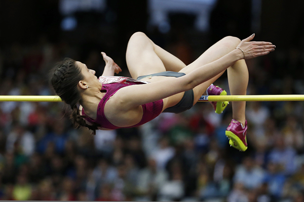 Russia's Maria Kuchina in action in the high jump (AFP / Getty Images)