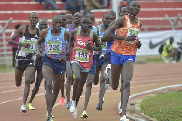 Opening lap of the men's 1500m at the World Championships trials in Nairobi (Stafford Ondego)