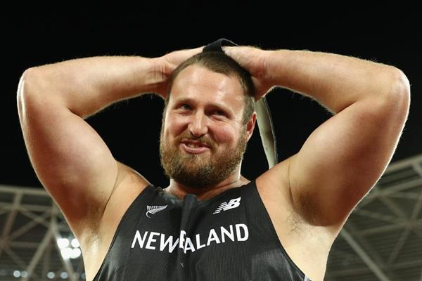 Shot put winner Tom Walsh at the IAAF World Championships London 2017 (Getty Images)
