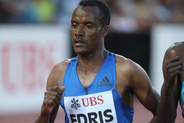 Muktar Edris in the Lausanne 5000m (Giancarlo Colombo)