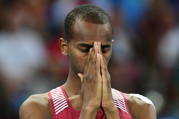 Qatari high jumper Mutaz Essa Barshim (AFP / Getty Images)